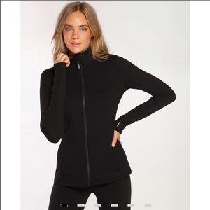 Lorna Jane Black Zip Up Workout Jacket Size M